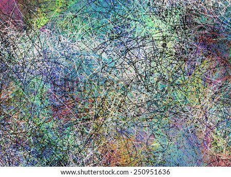 Abstract composed of many linear forms - stock photo
