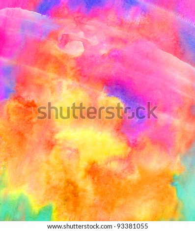 Abstract composition in watercolor. The background. - stock photo