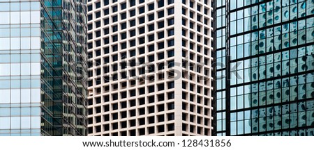 Abstract composition of building surface
