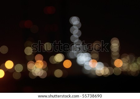 abstract composition of desfocused city colorful lights