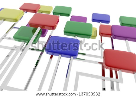 Abstract composition of organizational scheme - stock photo