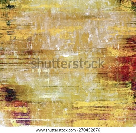 Abstract composition on textured, vintage background with grunge stains. With different color patterns: yellow (beige); brown; gray; red (orange) - stock photo