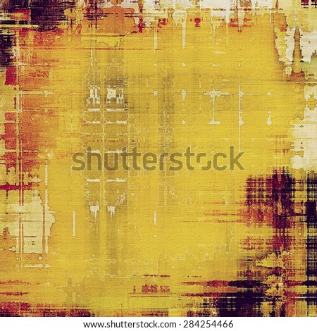 Abstract composition on textured, vintage background with grunge stains. With different color patterns: yellow (beige); brown; red (orange); purple (violet) - stock photo