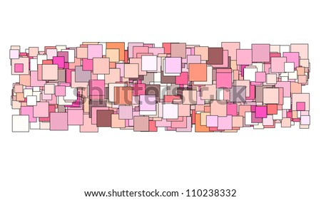 abstract composition with pink magenta square plane - stock photo