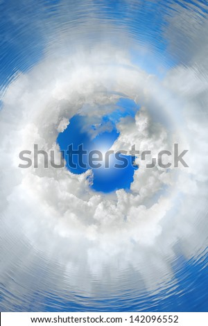 abstract, concept, background, seventh heaven, top of the world, cloud nine - stock photo