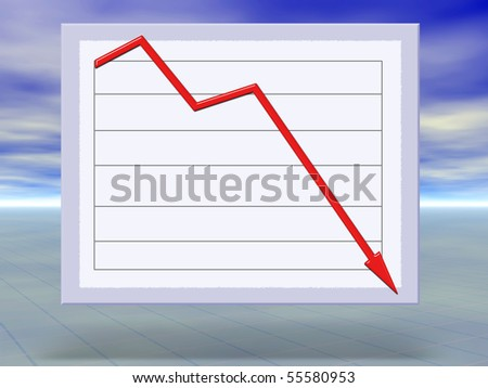 Abstract concept illustration of financial crisis graphs crashing