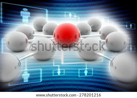 Abstract conception of network and communication, communication 3d - stock photo