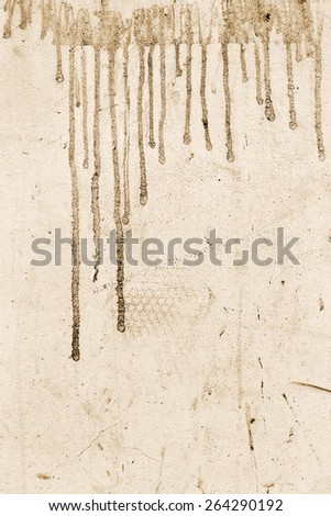Abstract concrete, weathered with cracks and scratches, sepia. Landscape style. Grungy Concrete Surface. Great background or texture. - stock photo