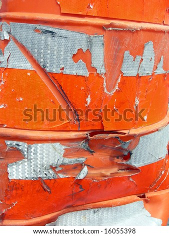 Abstract construction cone focus on texture - stock photo