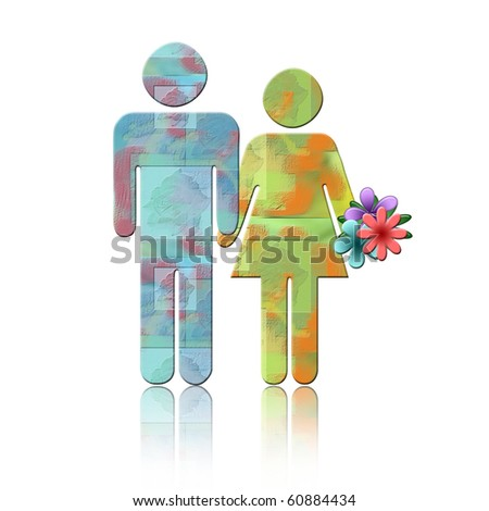 Abstract Couple - stock photo