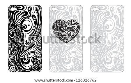 Abstract cover design for the phone's case - stock photo