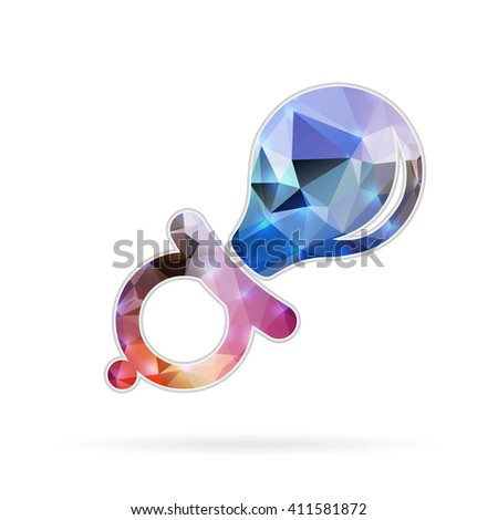 Abstract Creative concept icon of nipple for Web and Mobile Applications isolated on background. illustration template design, Business infographic and social media, origami icons.