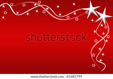 abstract creative romantic ice flower christmas card Illustration  stars snowflakes snow red white - stock photo