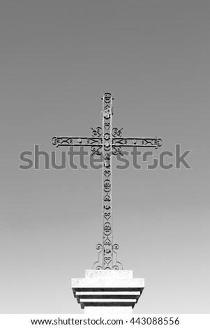 abstract     cross in   italy europe and the sky background - stock photo