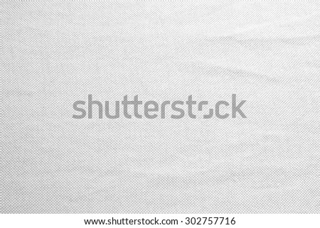 Abstract crumpled white and gray colors fabric texture backgrounds : rough and creased fabric textures.wrinkle fabric burlap backdrop concept. - stock photo