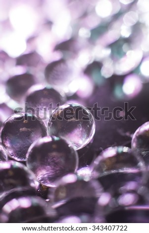 Abstract crystal spheres with reflective environment - stock photo