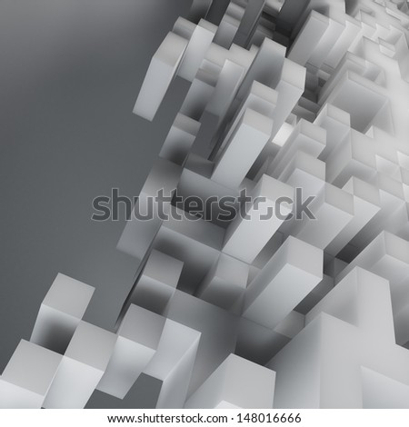 Abstract cube design background - computer generated render - stock photo