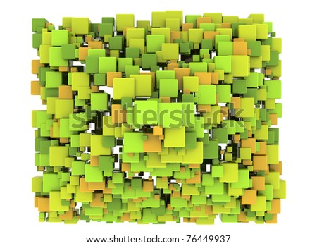Abstract Cubes Background design element - stock photo