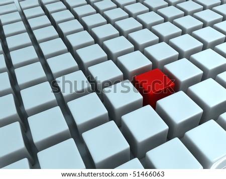 Abstract Cubes Matrix - stock photo