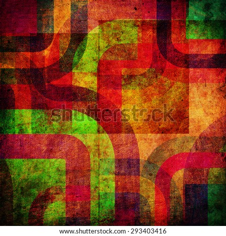 abstract curved bands, grunge background - stock photo