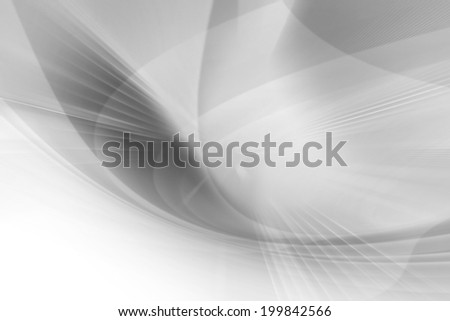 Abstract Curved Futuristic Background,Black And White - stock photo
