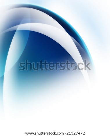 abstract curved glow - stock photo
