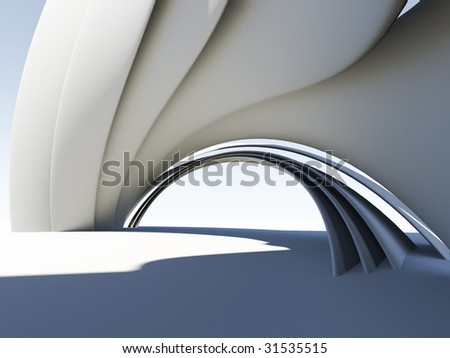 Abstract 3D arch. For other similar images from the series, please, check my portfolio. - stock photo