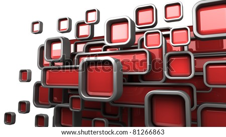 Abstract 3D background for company presentation red - stock photo