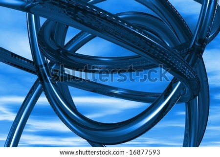 Abstract 3D blue background