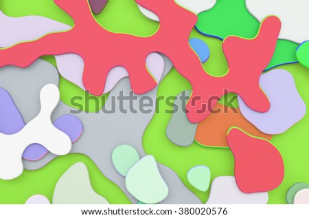 Abstract 3d colorful organic background - stock photo