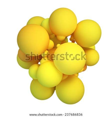 Abstract 3D concept illustration on white background. - stock photo