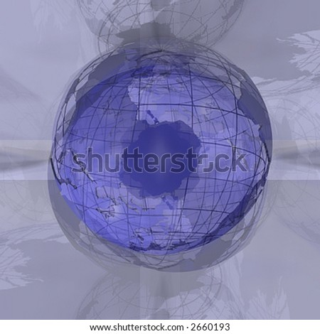 Abstract 3D design background world