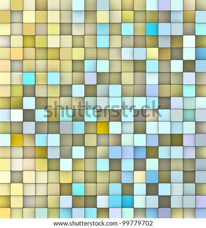 abstract 3d gradient backdrop in multiple yellow blue - stock photo