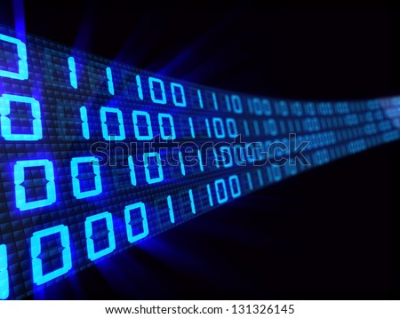 abstract 3d illustration of binary code background