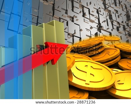 abstract 3d illustration of colorful background - stock photo