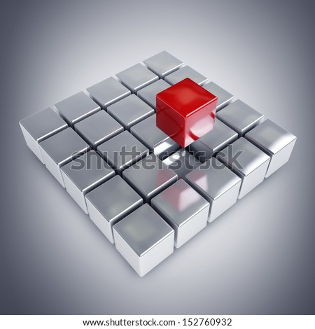 abstract 3d illustration of cube construction with blocks. high resolution