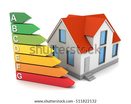 Attractive Abstract 3d Illustration Of House Energy Class