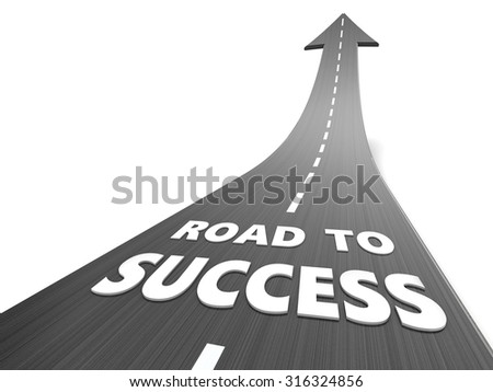 abstract 3d illustration of road to success - stock photo