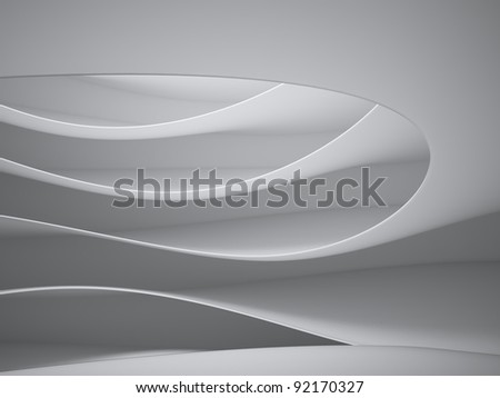 Abstract 3d interior architecture - stock photo