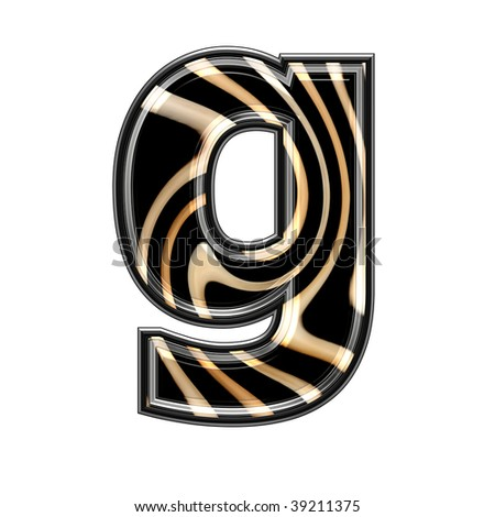 abstract 3d letter with wavy texture - stock photo
