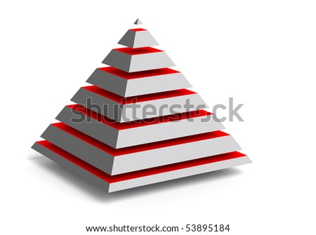 Abstract 3d pyramid - stock photo