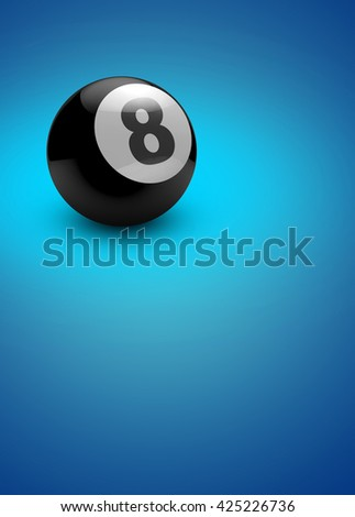 Abstract 3D rendering billiard invitation advert background with empty space