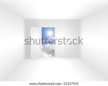 Abstract 3d room of white color - stock photo