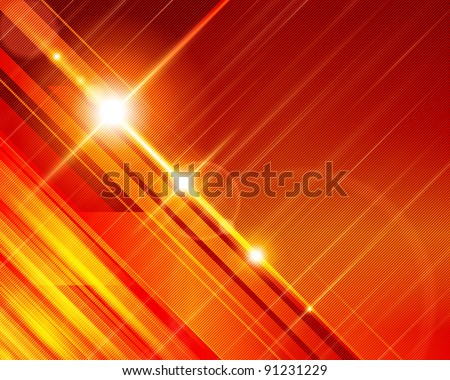Abstract 3d technology lines with light background. Raster version. - stock photo