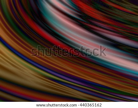 Abstract dark background of the curved flowing smooth wave warm colors  - stock photo