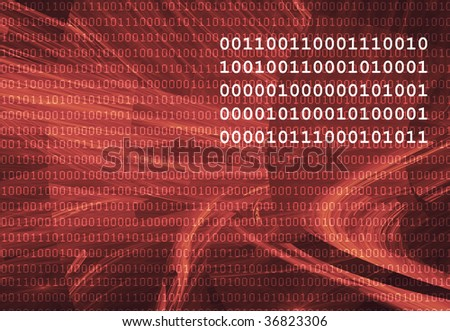Abstract dark background with binary code