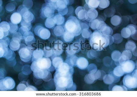 Abstract Dark Blue Bokeh Background
