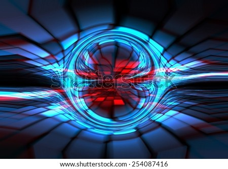 Abstract dark blue-red technical background - stock photo