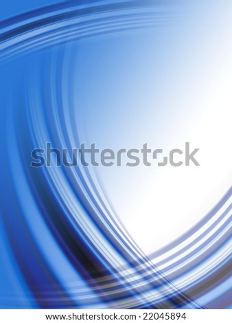 Abstract dark blue wave background - stock photo