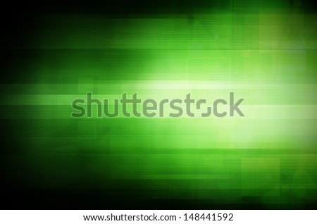 Abstract dark green technology background.